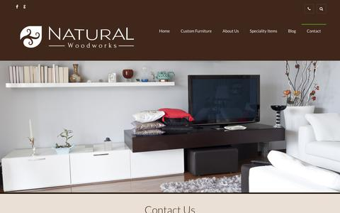 Screenshot of Contact Page naturalwoodworks.com - Contact I Natural Wood Works I Custom Built Wood Furniture - captured Dec. 7, 2017