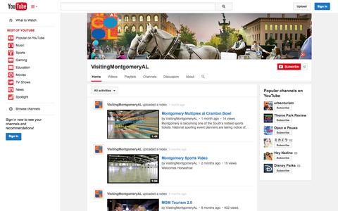 Screenshot of YouTube Page youtube.com - VisitingMontgomeryAL  - YouTube - captured Oct. 26, 2014