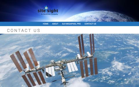 Screenshot of Contact Page siteisight.com - Contact Us - Site I Sight by EarthCam - captured Sept. 20, 2018