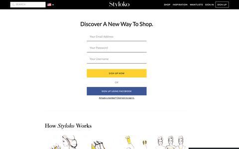 Screenshot of Signup Page styloko.com - Register - captured Dec. 8, 2015