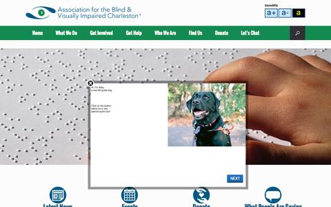 Screenshot of Home Page abvisc.org - Association for the Blind and Visually Impaired - Charleston - captured Sept. 11, 2015