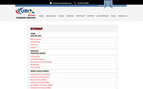 Screenshot of Site Map Page curixinfotech.com - Site map | Best SEO Company India, SEO India, SEO Services India, SEO Agency India - captured Oct. 3, 2014