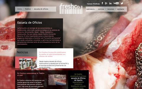 Screenshot of Home Page freshco.es - Escuela de Oficios en Madrid | Freshco Formación - captured Oct. 3, 2014