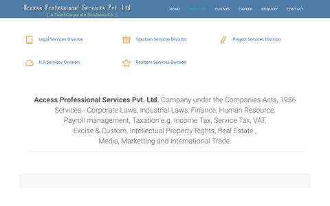 Screenshot of Services Page accessprofessional.in - Our Services | accessprofessional.in - captured Nov. 20, 2016