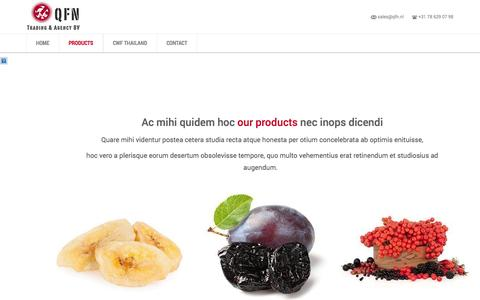 Screenshot of Products Page qfn.nl - Products | QFN - captured Oct. 27, 2014