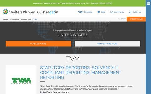 Screenshot of Case Studies Page tagetik.com - Case study: Tvm | CCH Tagetik - captured July 5, 2017