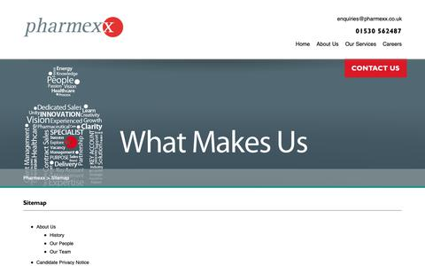 Screenshot of Site Map Page pharmexx.co.uk - Sitemap | PharmexxPharmexx - captured Sept. 28, 2018