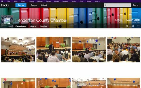 Screenshot of Flickr Page flickr.com - Flickr: Henderson County Chamber's Photostream - captured Oct. 22, 2014