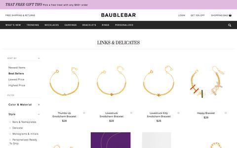 Links & Delicates | BaubleBar