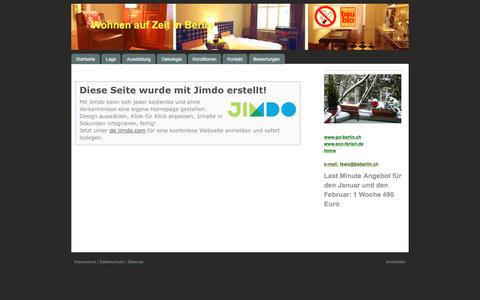 Screenshot of About Page jimdo.com - Impressum - Öko-Fewo-Berlin - captured Feb. 1, 2018