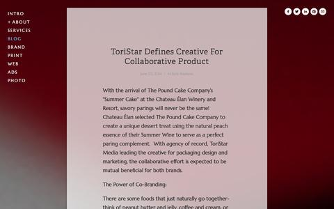 Screenshot of Blog toristarmedia.com - What's trending with ToriStar — ToriStar Media - captured Oct. 1, 2014