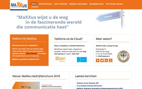 Screenshot of Home Page callglobal.nl - MaXXus Communications - captured Sept. 26, 2018