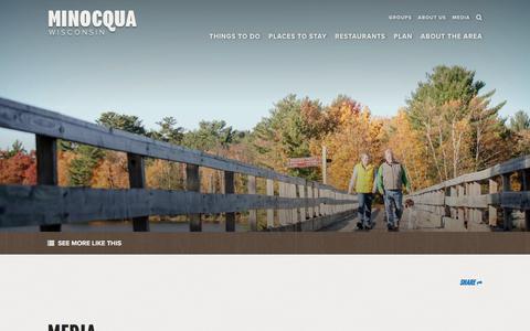 Screenshot of Press Page minocqua.org - Minocqua, WI Media | Image Gallery & Featured Partners - captured Oct. 27, 2017