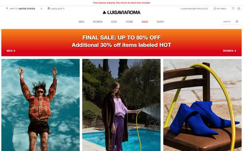 Screenshot of Login Page luisaviaroma.com - Luisaviaroma  | Luxury Fashion, Home & Design, Beauty - captured Sept. 4, 2018