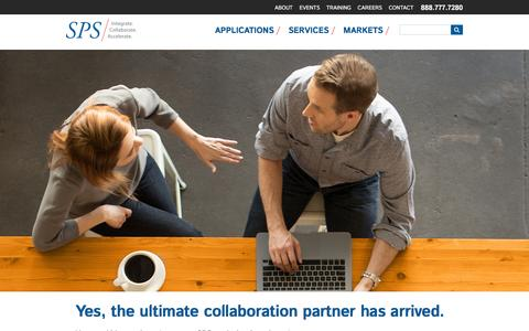 Screenshot of Home Page spscom.com - SPS | Strategic Products and Services - captured Dec. 27, 2015