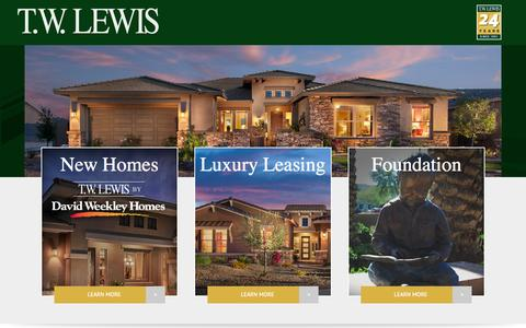 Screenshot of Home Page twlewis.com - T.W. Lewis | Quality Since 1991 - captured June 20, 2015