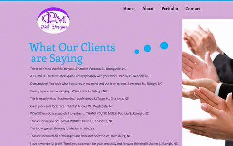 Screenshot of Testimonials Page cpmwebdesigns.com - cpandmwebdesigns | Testimonials - captured Oct. 7, 2018