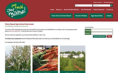 Screenshot of Login Page getrealmaine.com captured Jan. 5, 2017