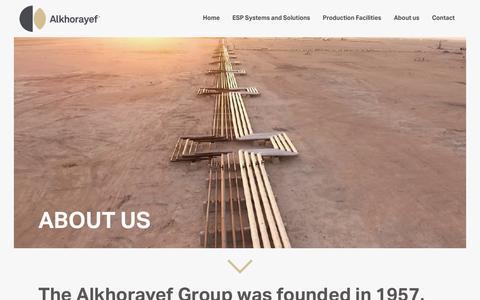 Screenshot of About Page alkhorayefpetroleum.com - Alkhorayef Petroleum | About us - captured Nov. 12, 2018