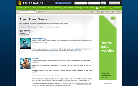 Screenshot of About Page armorgames.com - About Armor Games | Armor Games - captured Sept. 19, 2014