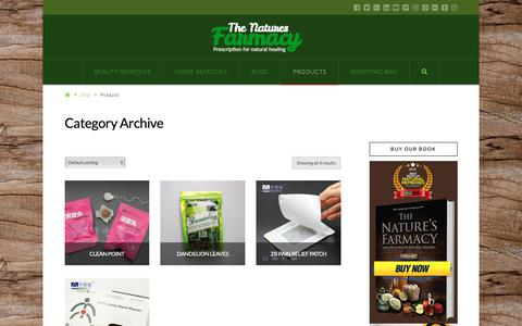 Screenshot of Products Page thenaturesfarmacy.com - Products Archives - The Nature's Farmacy - captured Oct. 20, 2018