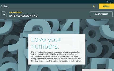 Solium | Expense Accounting