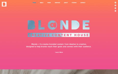 Screenshot of Home Page blondeandco.com - Blonde + Co Agency | Manhattan | Creative | Editorial | Studio - captured Oct. 10, 2017