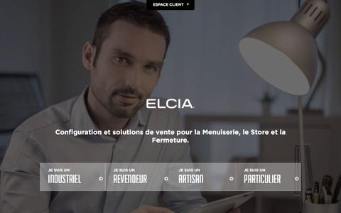 Screenshot of Home Page elcia.com - ELCIA, logiciels pour les professionnels de la menuiserie - captured May 12, 2017