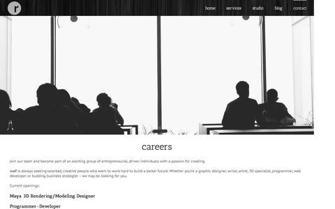 Screenshot of Jobs Page ruef.com - careers | cincinnati jobs | dayton jobs | ruef - captured Aug. 15, 2016