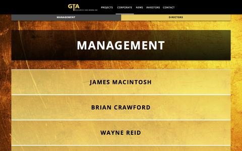 Screenshot of Team Page gtaresources.com - Management - captured July 7, 2017