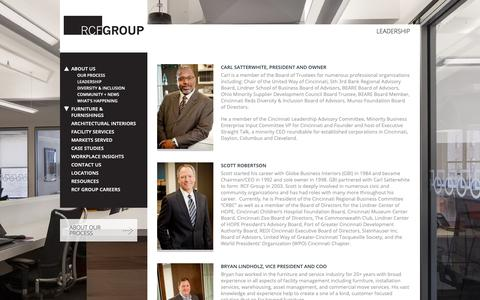Screenshot of Team Page thercfgroup.com - Leadership | RCF Group - captured March 14, 2019