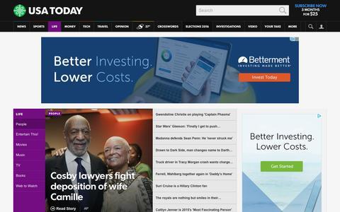Screenshot of Team Page usatoday.com - Celebrity Photos, Videos and Interviews - USATODAY.com - captured Dec. 18, 2015