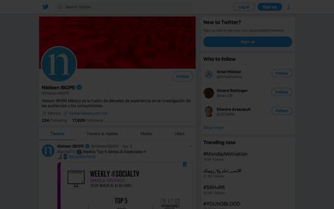Tweets by Nielsen IBOPE (@NielsenIBOPE) – Twitter