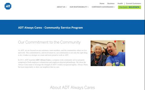 ADT Always Cares The  Company-Wide Community Service Program