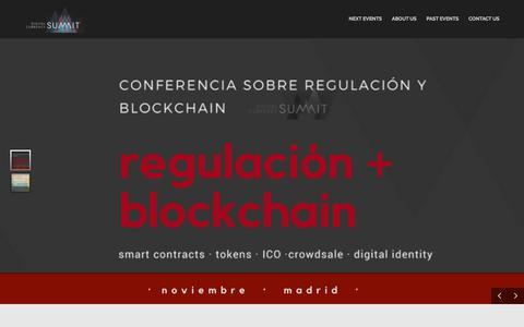 Screenshot of Home Page digitalcurrencysumm.it - Digital Currency Summit – Woldwide conferences about Blockchain and cryptocurrencies - captured Oct. 12, 2017