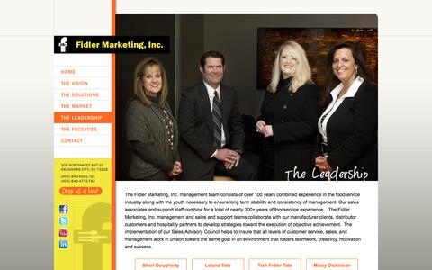 Screenshot of Team Page fidlermarketing.com - The Leadership - Fidler Marketing, Inc. :: Fidler Marketing, Inc. - captured Sept. 30, 2014