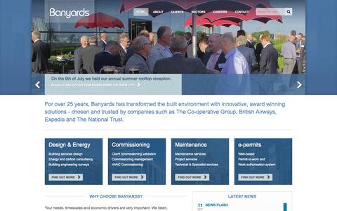 Screenshot of Home Page banyards.co.uk - Banyards :: Home - captured Sept. 30, 2014
