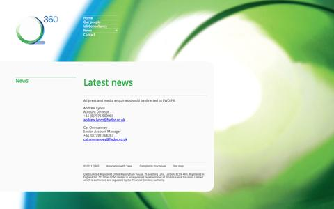 Screenshot of Press Page q360insurance.com - News | Q360 Insurance - captured Oct. 1, 2014