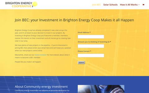 Screenshot of Signup Page brightonenergy.org.uk - Join Brighton Energy Coop and help create more Solar! - captured Nov. 13, 2018