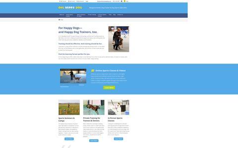 Screenshot of Home Page onehappydog.com - One Happy Dog - captured Jan. 21, 2016