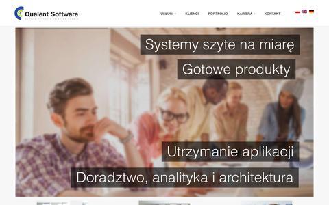 Screenshot of Home Page qualent.pl - Qualent Software - captured Jan. 29, 2016