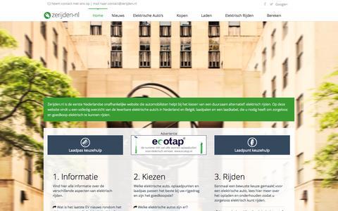 Screenshot of Home Page zerijden.nl - Zerijden.nl: alles over elektrisch rijden, laadpalen en laadpunten - captured Oct. 7, 2014