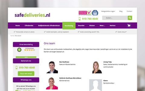 Screenshot of Team Page safedeliveries.nl - Ons team - captured Nov. 18, 2016