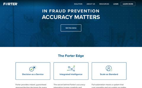 Forter | Accurate Fraud Protection & Detection for E-Commerce Sites