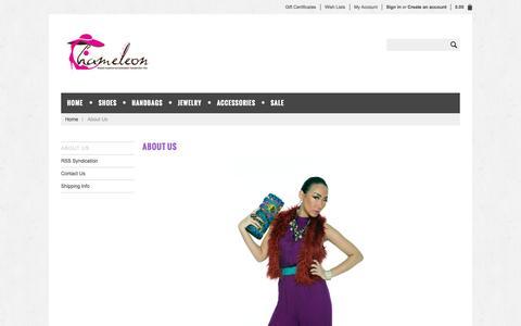 Screenshot of About Page shopchameleon.com - Cheap Fashion Accessories Online | Unusual Unique Handbags | Online Accessories Boutique - Shop Chameleon - captured Nov. 2, 2014