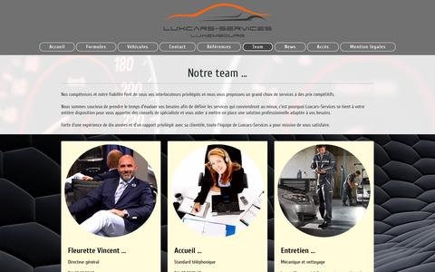 Screenshot of Team Page luxcars-services.com - Le Team - Luxcars-Services - captured Oct. 12, 2016