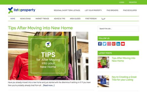 Screenshot of Blog listaproperty.com - Listaproperty Blog | The Easiest Way Home - captured Oct. 31, 2017