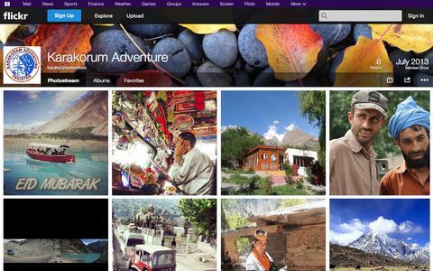 Screenshot of Flickr Page flickr.com - Flickr: karakorumadventure's Photostream - captured Oct. 23, 2014