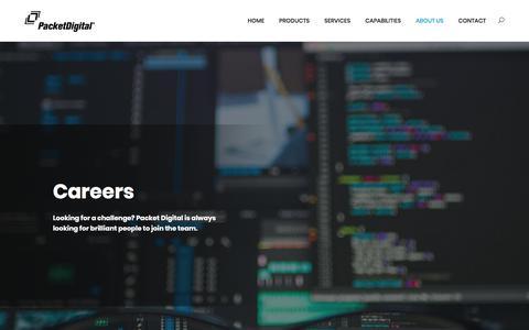 Screenshot of Jobs Page packetdigital.com - Careers - Packet Digital - captured July 12, 2018