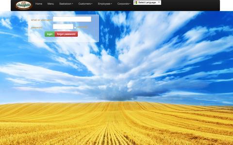 Screenshot of Login Page grainfields.net - Login - captured Sept. 30, 2014